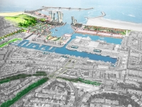 Den Haag, Scheveningen, urban strategies for the harbour transformation. -
